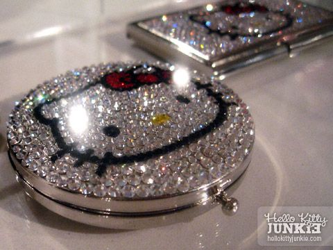 hello kitty bling compact mirror