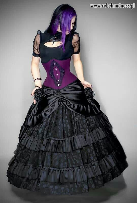 Gothic dress and corset