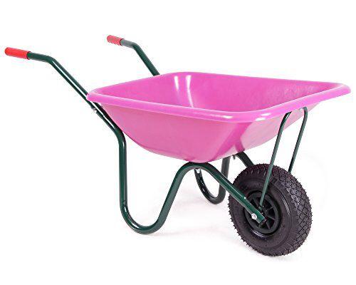 Diese Schubkarre für Kinder ist  hochwertig verarbeitet und hat ein Muldenvolumen von ca. 40 Litern. Da sie genau wie die großen Schubkarren mit einem  Metallgestänge, einer soliden Mulde aus Kunststoff, sowie einem  Luftrad ausgestattet ist, ist die Schiebekarre  vollwertig nutzbar und sehr belastbar.     Wer kennt es nicht, wenn die Kleinen unbedingt die großen Gartenwerkzeuge der Eltern benutzen möchten? Die Spielzeugvarianten werden dann oft links liegen gelassen. Da diese Gartenkarre…