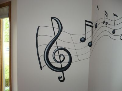 Music Bedroom Theme Ideas: Itu0027s All About Music: Mural For Music .