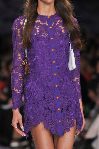 Purple lace dress House of Holland Spring 2014