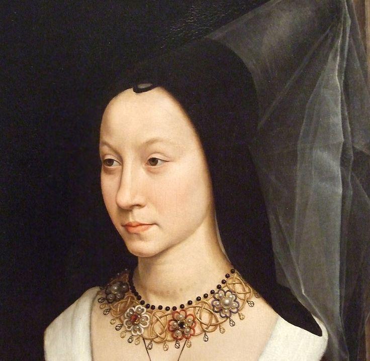 Detail of Maria Portinari by Memling
