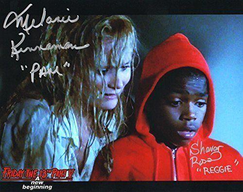 Melanie Kinnaman & Shavar Ross Hand Signed 8x10 Photo Friday the 13th Part 5: A New Beginning Jason  @ niftywarehouse.com #NiftyWarehouse #Geek #Horror #Creepy #Scary #Movies
