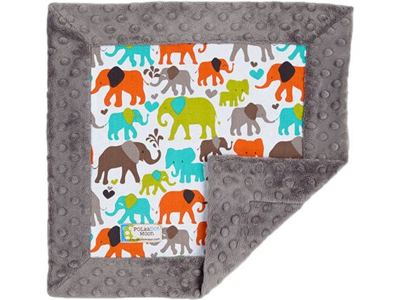 25  Off SALE Baby Boy Lovey Security Blanket  by apolkadotmoon, $24.00