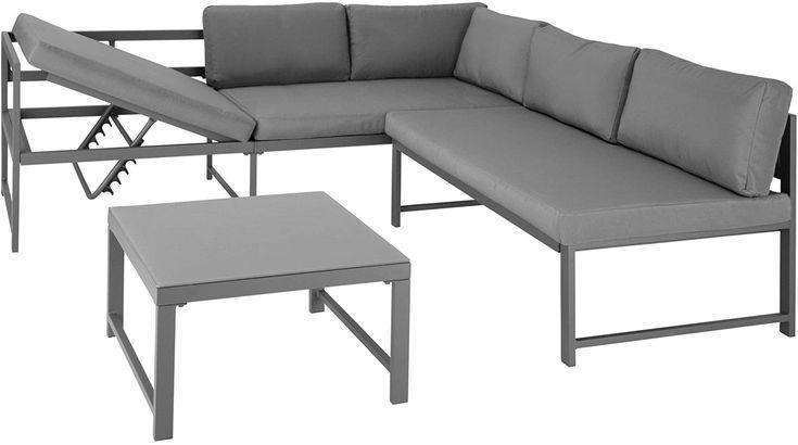 TecTake 403214 Aluminium Sitzgruppe für Garten und Balkon wetterfest 6-Fach ver… – Trienke Antonius