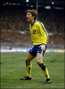 Alan Ball Everton Alan ball shouts to the fans