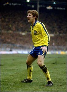 Alan Ball Everton Alan ball shouts to the fans