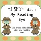 Use these literacy center activities with any text that you are using in your classroom. These activities include I Spy:Nouns Verbs   Pronouns Adjectives and more. $