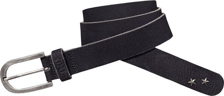 MOSINA von Hilfiger Denim ist ein schöner schlichter Gürtel mit süßen Metallsternchen und silberner Dornschließe.100% Leder...