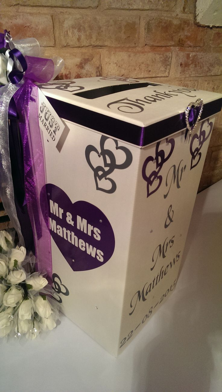 Cadbury Purple Wedding Card Box from http://www.bonbod.com