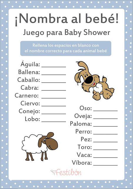 Juegos Para Baby Shower Para Imprimir Nombra Al Bebe Dinamicas
