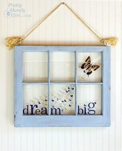 60 best Window Pane Art/Ideas images on Pinterest | Old windows ...