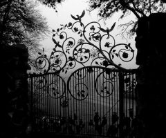 so prettyDoors, Beautiful Gates, Art, Dark, Gardens Gates, Wrought Iron, Things, Black, Iron Gates