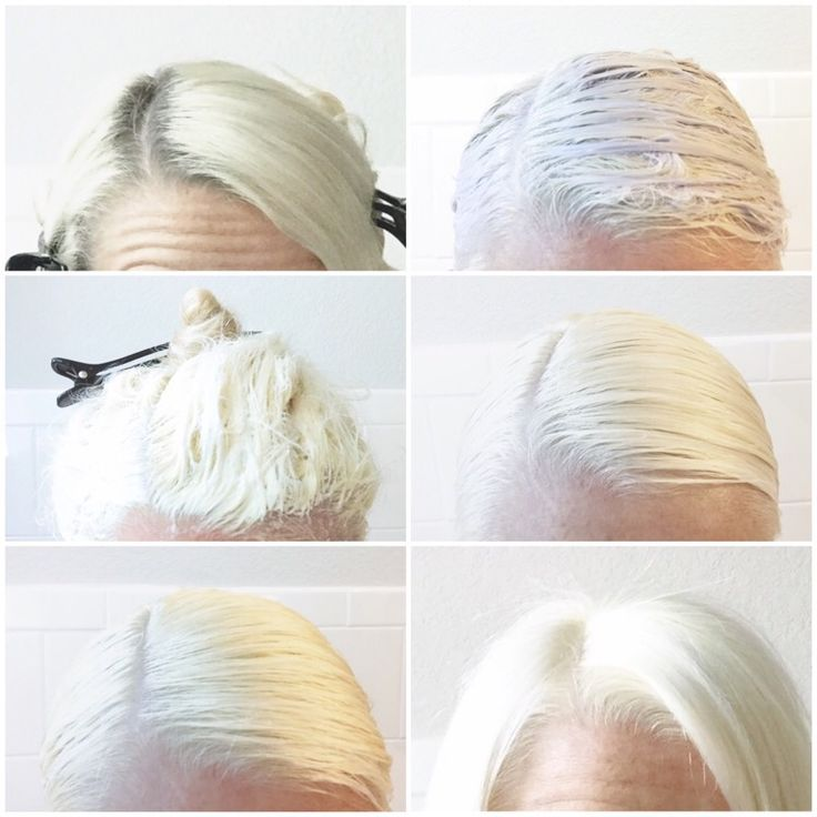 DIY Platinum Blonde  (just in case I ever decide to try it)