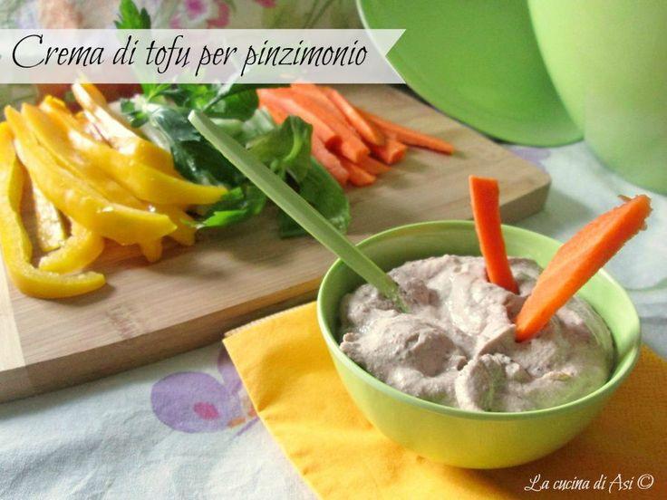 Una cremosissima salsa con tofu olive, capperi acciughe per accompagnare le verdure in pinzimonio Ricetta salsa contorno La cucina di ASI