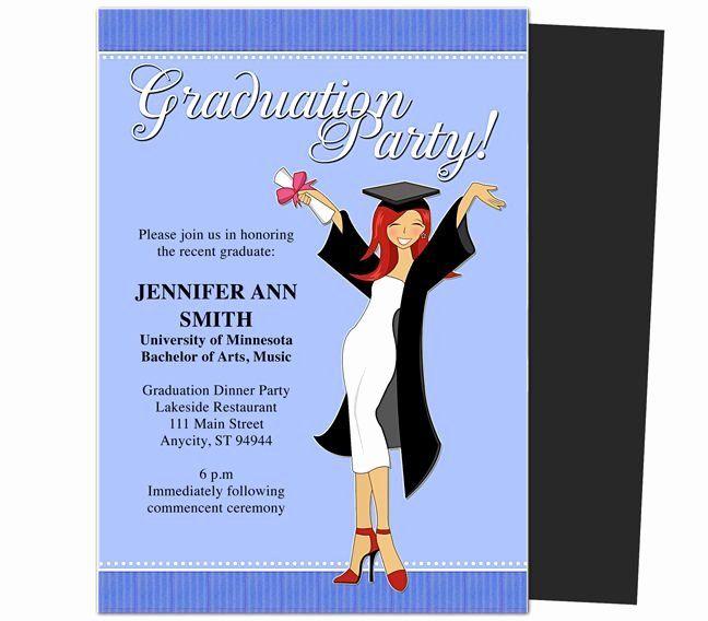 Elegant Graduation Party Invitation Template Free En 2020 S A