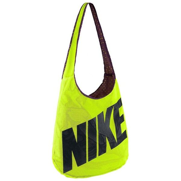 Nike Reversible Shoulder Bag (Green) (€30) ❤ liked on Polyvore featuring bags, handbags, shoulder bags, green, white cross body purse, shoulder strap bag, white crossbody purse, green handbags and nike
