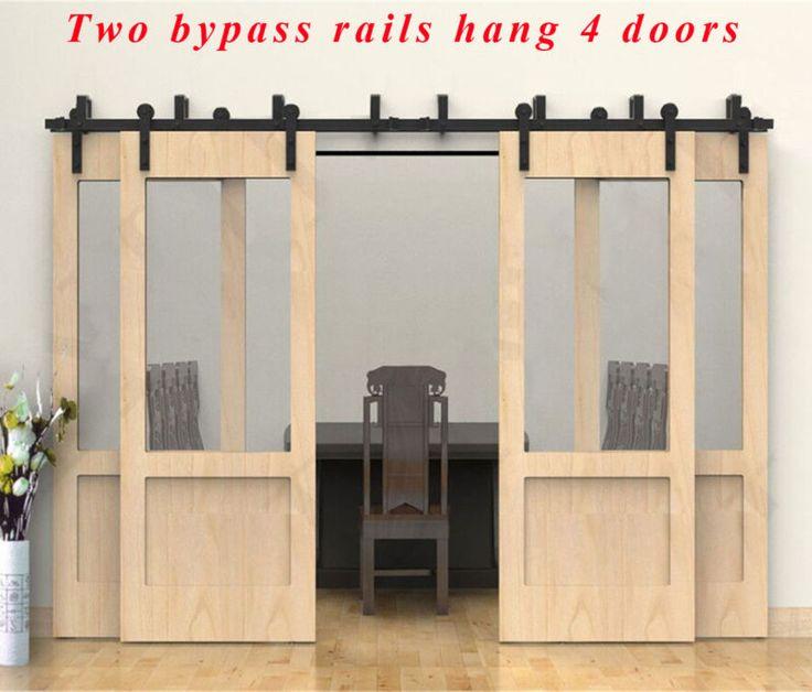 Nice 4 Bypassing Barn Doors | Ccjh 8 20ft Bypass Rustic Sliding Barn Wood Door  Hardware