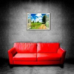 木製のポスターフレームに入ったオリジナルバーチャル ポスターです  風景写真に窓枠を画像処理 をして印刷フレームに入っています  木製フレームが立体ですので実際にお洒落な窓が有る様です お部屋の雰囲気が簡単に変わります  サイズ巾88センチ高さ63センチ 重量約1350g フレーム木製フレーム 印刷顔料インク(退色に優れています) 写真写真用紙に印刷ラミネート加工100ミクロン仕上げ ご自分で撮影した写真から窓枠を合成してポスター制作できます  tags[静岡県]