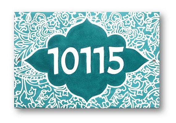 House Numbers Plate Address Plaque House Numbers by AyeBarDesigns
