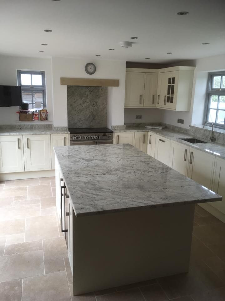 Andromeda White Granite worktops and island