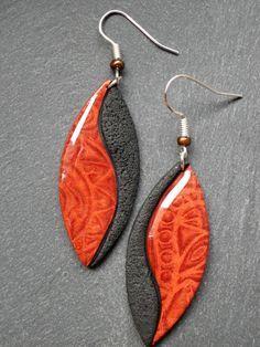 originelle2 - polymer clay earrings Trouvez l'inspiration sur www.atelierbijouxceramique.fr