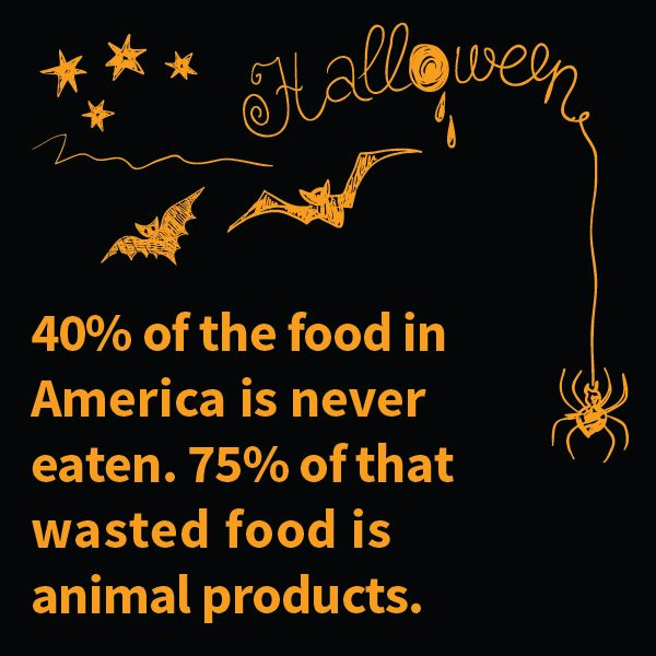 Spooky food waste facts for Halloween.