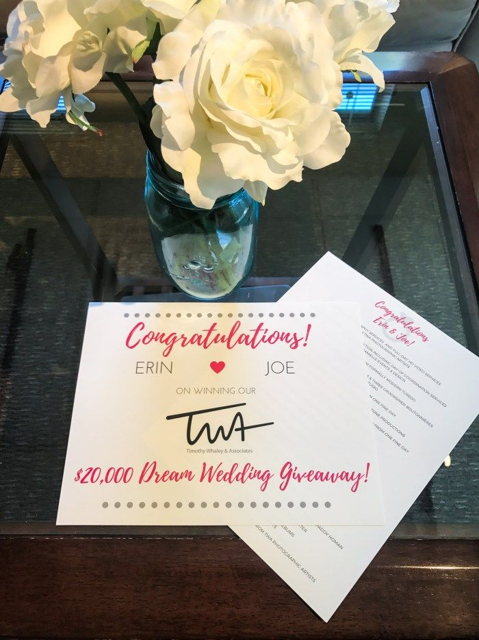 $20,000 Dream Wedding Giveaway…We have a winner! - Timothy Whaley Photographic Artists