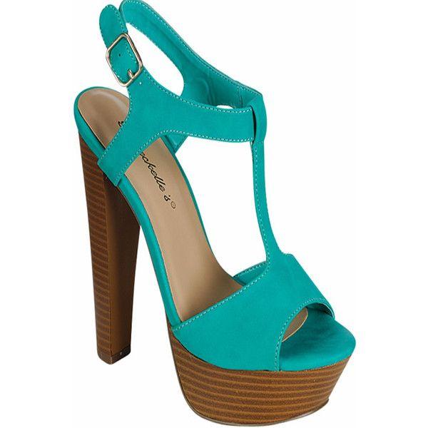 aqua peep toe side buckle strap platform high heels ($20) ❤ liked on Polyvore featuring shoes, pumps, aqua, strap pumps, aqua blue pumps, peep toe platform pumps, strappy pumps and high heel shoes
