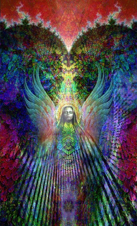 Colorful and powerful New Age depiction of the highest angel Metatron
