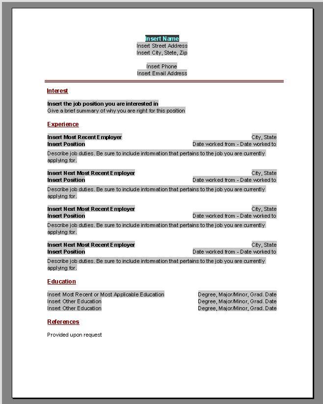 best 25  free printable resume ideas on pinterest