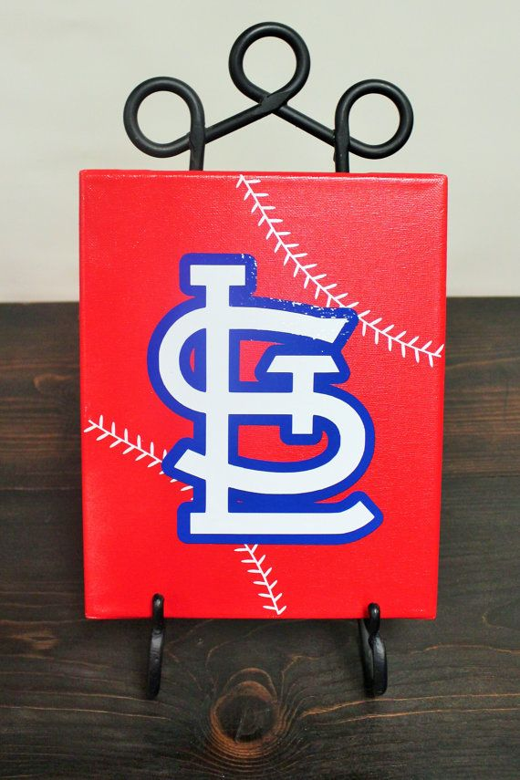 StL baseball St. Louis Cardinals canvas by AdamsFloristandGifts, $29.95