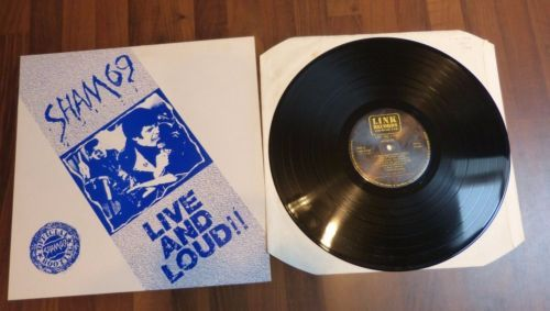 Sham-69-Live-and-Loud-12-034-Album-Vinyl-1987-LINK-Records-LP04-NM-VG-Ska-Punk-Oi