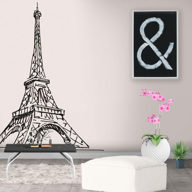 Vinilos Y Pegatinas Paris Torre Eiffel En 2020 Decoracion Parisina Vinilos Decorar Tienda