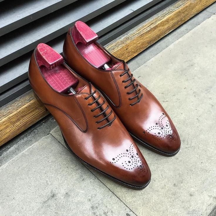 Leather Handmade Oxford Shoes Dress Men Brown Us Size Lace Up Dress Formal Shoes - Dress/Formal #oxfordshoesoutfit