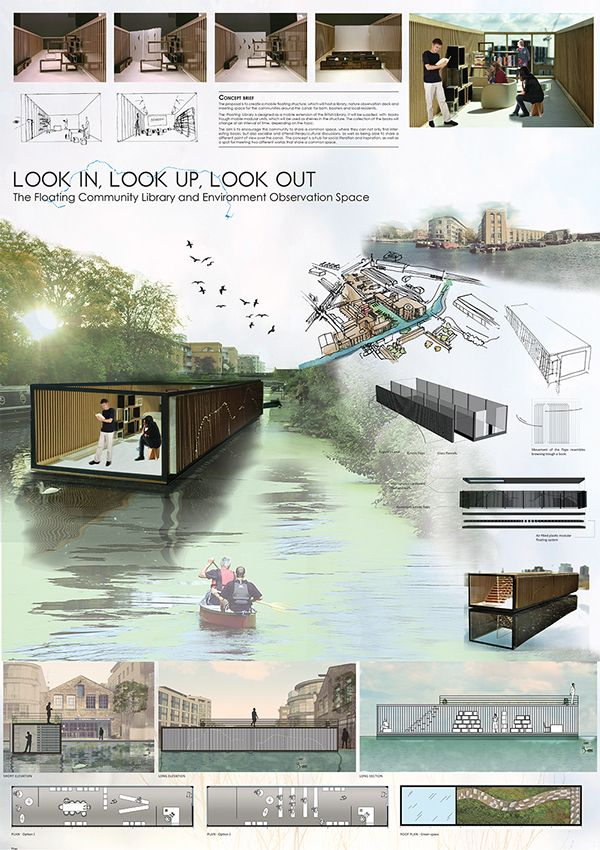 LOOK IN.LOOK UP.LOOK OUT. The Floating Library on Behance