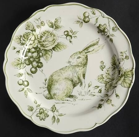 Maxcera Corp Green u0026 White Toile at Replacements Ltd & 20 best Maxcera dinnerware images on Pinterest | Bunny Dinnerware ...