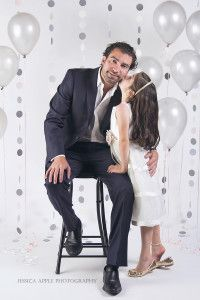 DIY How to make a photography backdrop for a studio portrait. This backdrop was used for formal pictures for a father / daughter dance