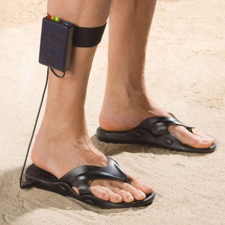The Metal Detecting Sandals.  Lifetime Guarantee  These are the sandals that can detect metal while you walk, allowing you to find buried artifacts while strolling the beach.