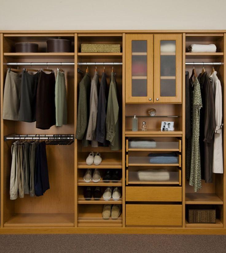Great Natural Brown Wood Finish Master Closet Organizers Shelving System Design Jpg 1200 1345 Ikea Closet Design Closet Small Bedroom Closet Design