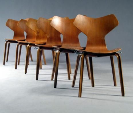 Danish Furniture, Grand Prix Chairs by Arn Jacobson