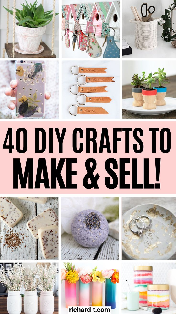 40 Easy & fun DIY crafts to make and sell that you need to try!! If you are looking at making some extra cash, then make sure to try out these DIY crafts!! #diycrafts #selldiycrafts #diy #makemoneydiy
