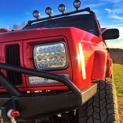 Cameron's 1997 Jeep Cherokee with Full LED Seal Beam Headlight Conversion