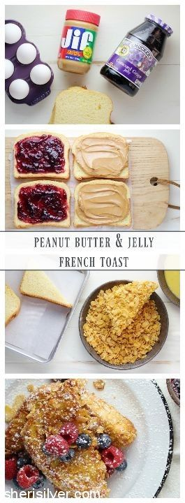 Peanut Butter and Jelly French Toast l sherisilver.com #MorethanPBandJ #ad