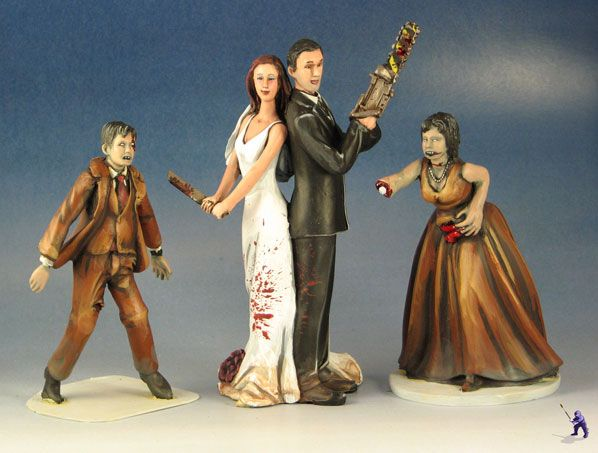 Want something more unique for your special day? Garden Ninja Studios specializes in original wedding cake toppers for the matrimonial geek. Wheth…