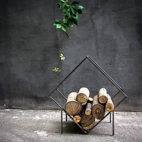 Hypothetically speaking if we had a log fire this would most definitely be how we'd store our wood. It's an artwork in itself! Shop the stylish range from Slab Homewares by clicking the link in our bio.  #theblockshop #blockshopper #fire #woodfire #homewares