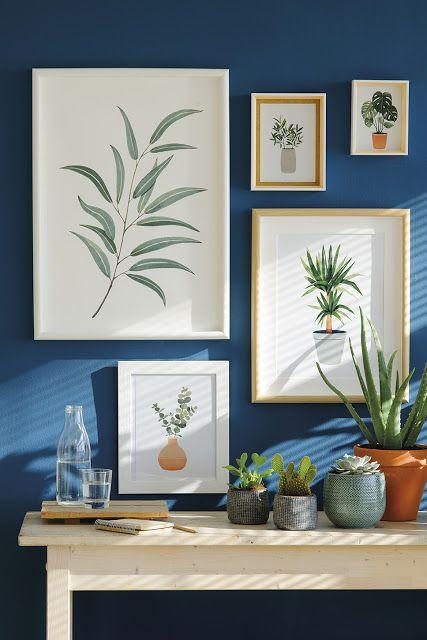 Llena tu hogar de tejidos primaverales #decoración #hogar #primavera #verano #colores #navy #azul #láminas #hojas #naturaleza www.hogardiez.com
