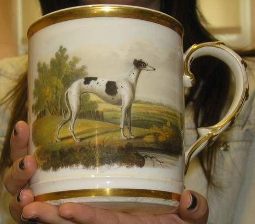 Rare Chamberlain Worcester Porter MUG Painted Greyhound C1810 | eBay: