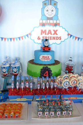 Thomas the Train Birthday Party Ideas | Photo 6 of 17 | Catch My Party