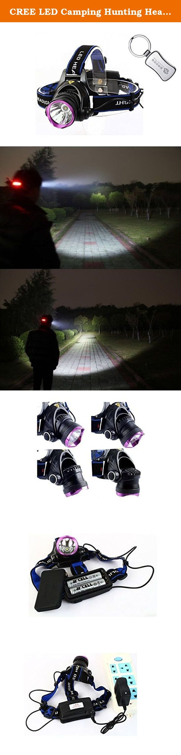 CREE LED Camping Hunting Head lamp 18650 T6 Rechargeable Zoom Waterproof Headlamp Flashlight XM-L XML headlamp lantern + A keychain. color:black wattage:8 light source:LED headlamp lantern:lanterna de cabeca.